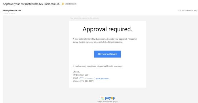 estimate-sent-via-email